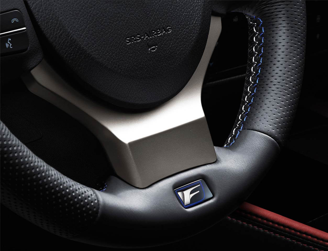 GS F shown in Circuit Red Leather with Carbon Composite Trim