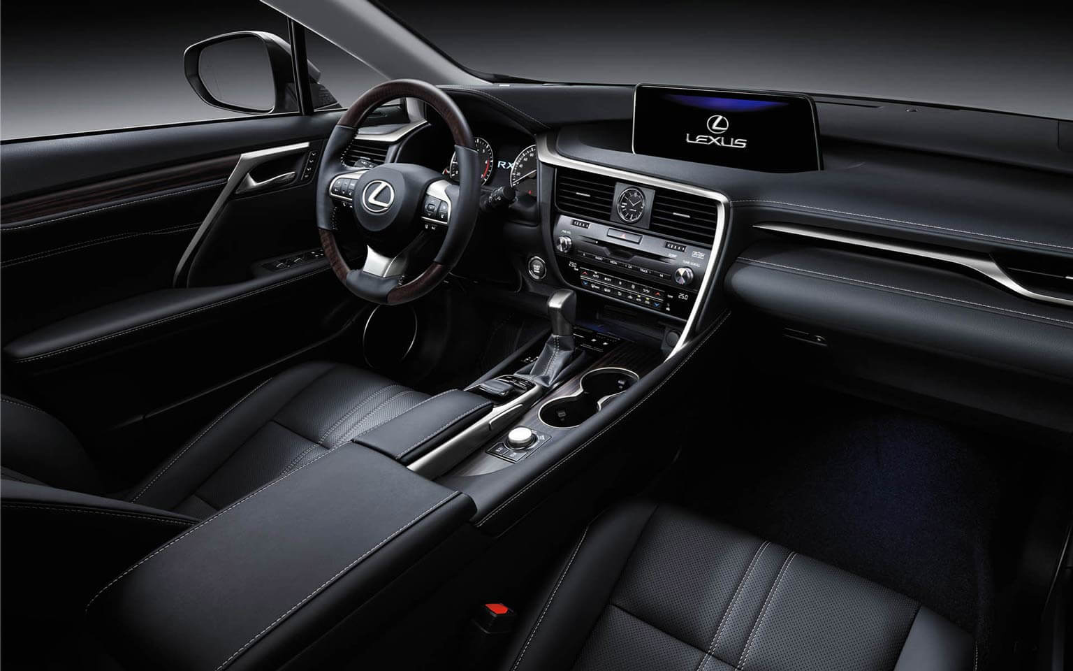 RX 350 with Executive Package in Black Semi-Aniline Leather